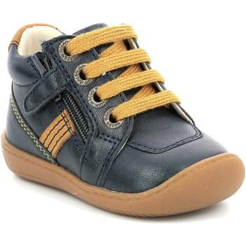 kengät Tytöt Bootsit Aster Chaussures fille  Piasap bleu marine/orange clair