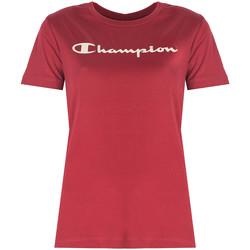 vaatteet Naiset Lyhythihainen t-paita Champion  Punainen