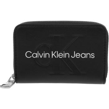 laukut Naiset Lompakot Calvin Klein Jeans Accordion Zip Around Mustat