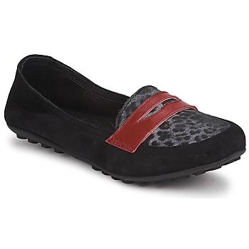 kengät Tytöt Mokkasiinit Mod'8 CELEMOC JUNIOR Musta / Leopardi / Punainen