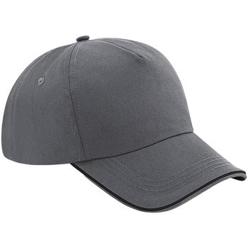 Asusteet / tarvikkeet Lippalakit Beechfield BB25C Graphite Grey/Black