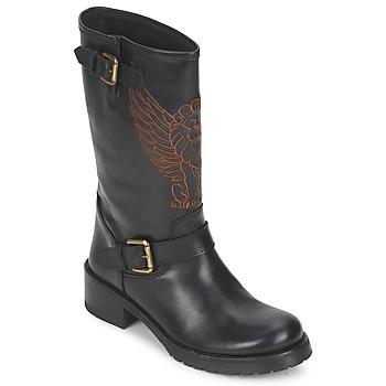 kengät Naiset Bootsit Pastelle ANGEL Black