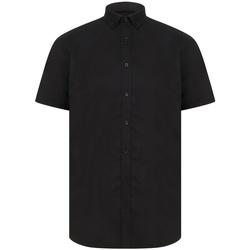 vaatteet Miehet Lyhythihainen paitapusero Henbury H517R Black
