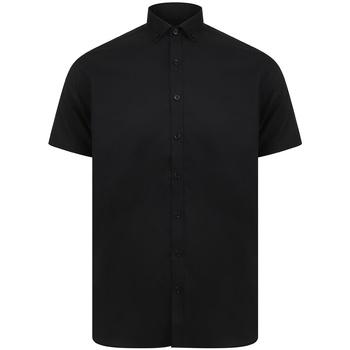 vaatteet Miehet Lyhythihainen paitapusero Henbury H517S Black