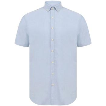 vaatteet Miehet Lyhythihainen paitapusero Henbury H517S Blue