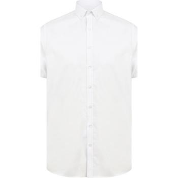 vaatteet Miehet Lyhythihainen paitapusero Henbury H517S White