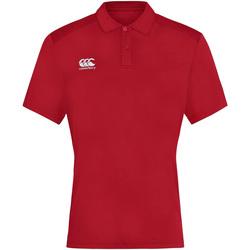 vaatteet Miehet Lyhythihainen poolopaita Canterbury CN263 Red