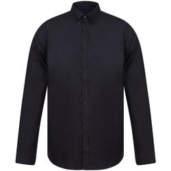vaatteet Miehet Pitkähihainen paitapusero Henbury H512S Black