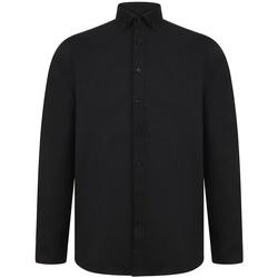 vaatteet Miehet Pitkähihainen paitapusero Henbury H512R Black