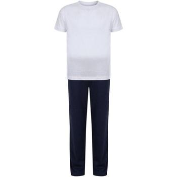 vaatteet Tytöt pyjamat / yöpaidat Towel City TC59 White/Navy