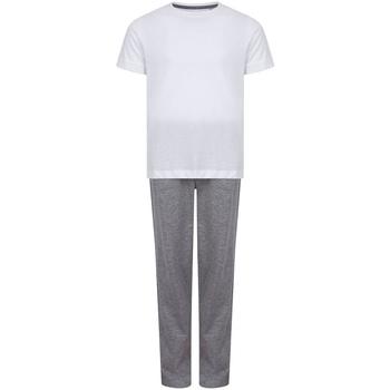 vaatteet Tytöt pyjamat / yöpaidat Towel City TC59 White/Heather Grey