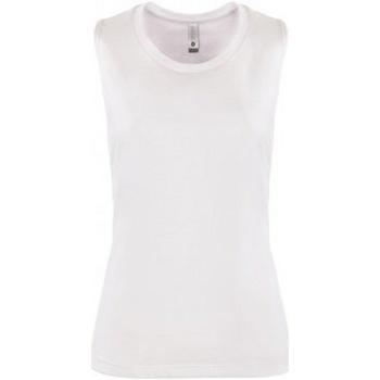 vaatteet Naiset Hihattomat paidat / Hihattomat t-paidat Next Level NX5013 White