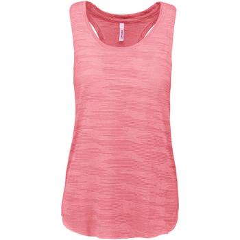 vaatteet Naiset Hihattomat paidat / Hihattomat t-paidat Proact PA4009 Fluorescent Pink