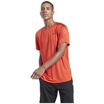 vaatteet Miehet Lyhythihainen t-paita Reebok Sport Workout Ready Tech Oranssin väriset
