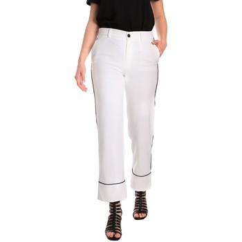 vaatteet Naiset Chino-housut / Porkkanahousut Denny Rose 811DD20006 Valkoinen