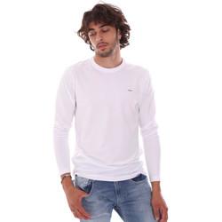 vaatteet Miehet T-paidat pitkillä hihoilla Key Up 2E96B 0001 Valkoinen
