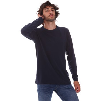 vaatteet Miehet T-paidat pitkillä hihoilla Key Up 2E96B 0001 Sininen