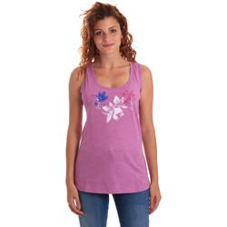 vaatteet Naiset Hihattomat paidat / Hihattomat t-paidat Key Up 5G62S 0001 Violetti