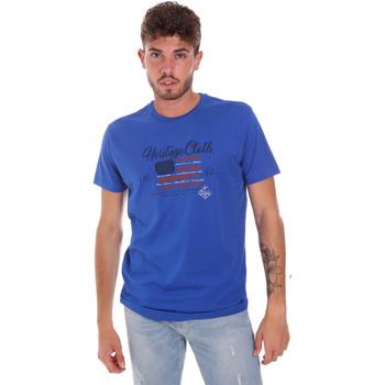 vaatteet Miehet Lyhythihainen t-paita Key Up 2G83S 0001 Sininen