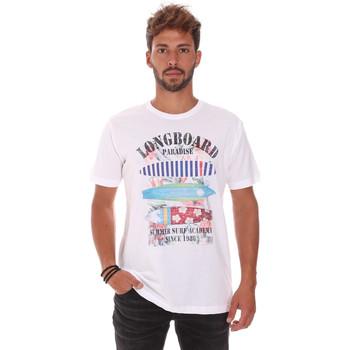 vaatteet Miehet Lyhythihainen t-paita Key Up 2D45S 0001 Valkoinen