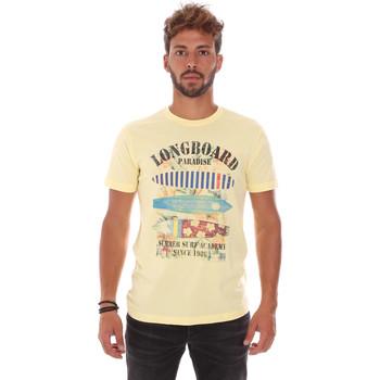 vaatteet Miehet Lyhythihainen t-paita Key Up 2D45S 0001 Keltainen