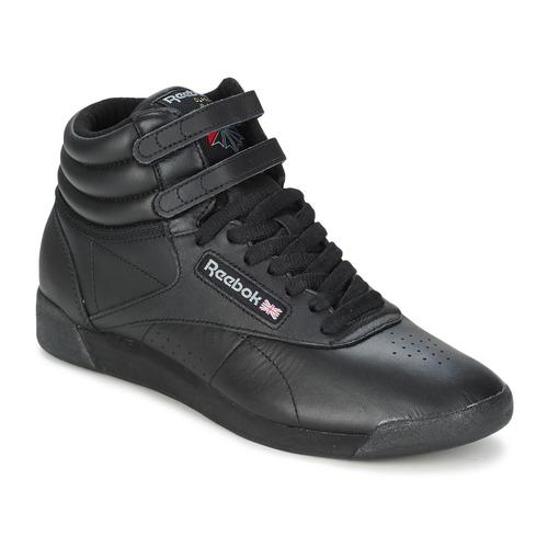 kengät Naiset Korkeavartiset tennarit Reebok Classic FREESTYLE HI Black