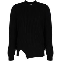 vaatteet Miehet Neulepusero Les Hommes  Musta