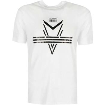 vaatteet Miehet Lyhythihainen t-paita Les Hommes  Valkoinen
