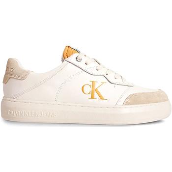 kengät Miehet Matalavartiset tennarit Calvin Klein Jeans YM0YM00283 Beige