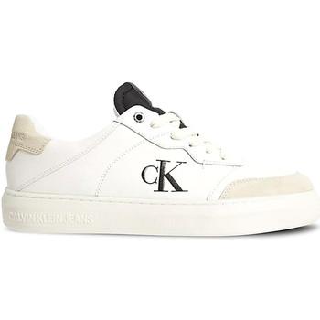 kengät Miehet Matalavartiset tennarit Calvin Klein Jeans YM0YM00283 Valkoinen