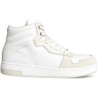 kengät Miehet Korkeavartiset tennarit Calvin Klein Jeans YM0YM00287 Valkoinen
