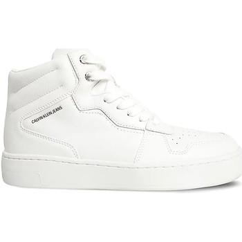 kengät Naiset Korkeavartiset tennarit Calvin Klein Jeans YW0YW00451 Valkoinen