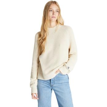 vaatteet Naiset Neulepusero Calvin Klein Jeans J20J215290 Beige