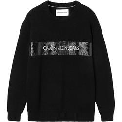 vaatteet Miehet Neulepusero Calvin Klein Jeans J30J317119 Musta