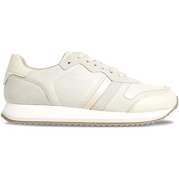 kengät Miehet Matalavartiset tennarit Calvin Klein Jeans HM0HM00287 Valkoinen