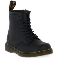 kengät Lapset Bootsit Dr Martens 1460 BLACK SOFTY T Nero