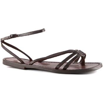kengät Naiset Sandaalit ja avokkaat Gianluca - L'artigiano Del Cuoio 535 D MORO CUOIO Testa di Moro
