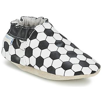 kengät Pojat Vauvan tossut Robeez GOAL Black / White