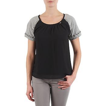 vaatteet Naiset Lyhythihainen t-paita Lollipops PADELINE TOP Black / Grey
