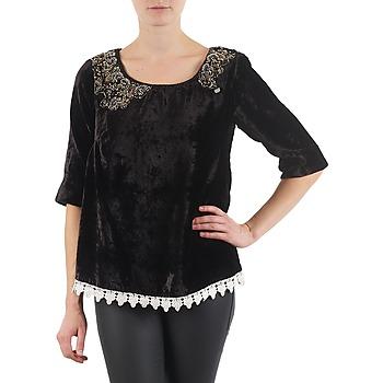 vaatteet Naiset T-paidat pitkillä hihoilla Lollipops PILOW TOP Black