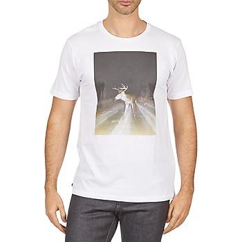 vaatteet Miehet Lyhythihainen t-paita Kulte BALTHAZAR PLEIN PHARE 101931 BLANC White