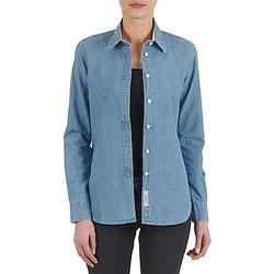 vaatteet Naiset Paitapusero / Kauluspaita Kulte CHEMISE CIRCUIT 101826 BLEACH Blue
