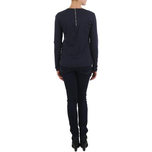 Brigitte Bardot Bb43130 Blue - Ilmainen Toimitus- Vaatteet T-paidat Pitkillä Hihoilla Naiset 67
