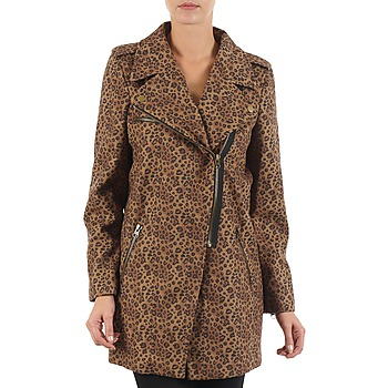 vaatteet Naiset Paksu takki Brigitte Bardot BB43110 Brown / Leopardi
