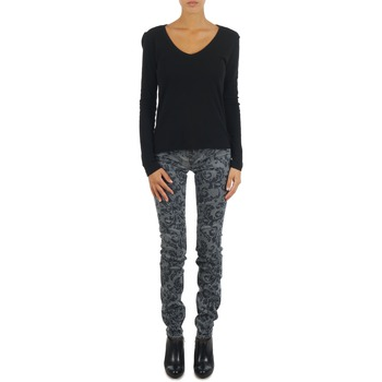 vaatteet Naiset Slim-farkut Gas TASCHE SUMATRA HIGH BLE BLACK Grey