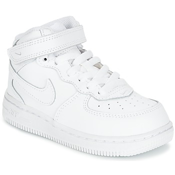 kengät Lapset Korkeavartiset tennarit Nike AIR FORCE 1 MID TODDLER White