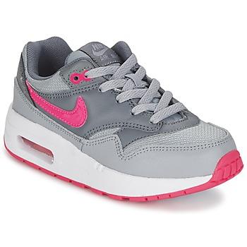 kengät Tytöt Matalavartiset tennarit Nike AIR MAX 1 CADET Grey / Pink