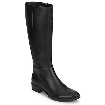 kengät Naiset Saappaat Geox MENDI STIVALI BASIC Black