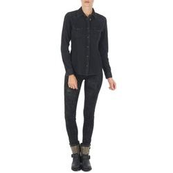 vaatteet Naiset Slim-farkut Lee SCARLETT Black