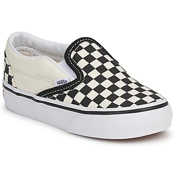 kengät Lapset Tennarit Vans CLASSIC SLIP ON KIDS Musta / Valkoinen